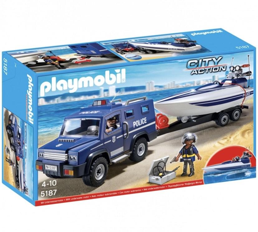 Playmobil - Coche de Policia con Lancha