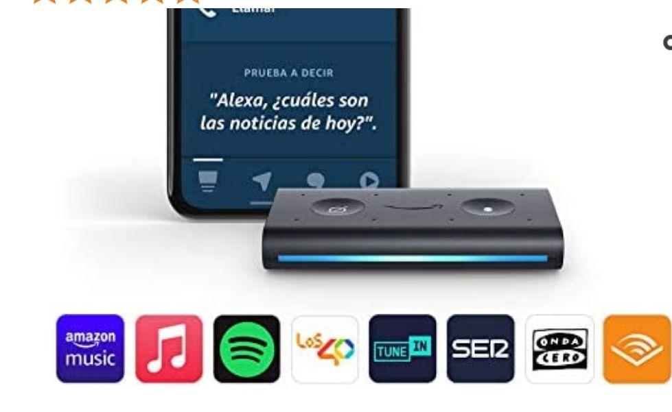 Altavoz inteligente con Alexa - Amazon Echo Auto, Para el coche *Mínimo histórico*