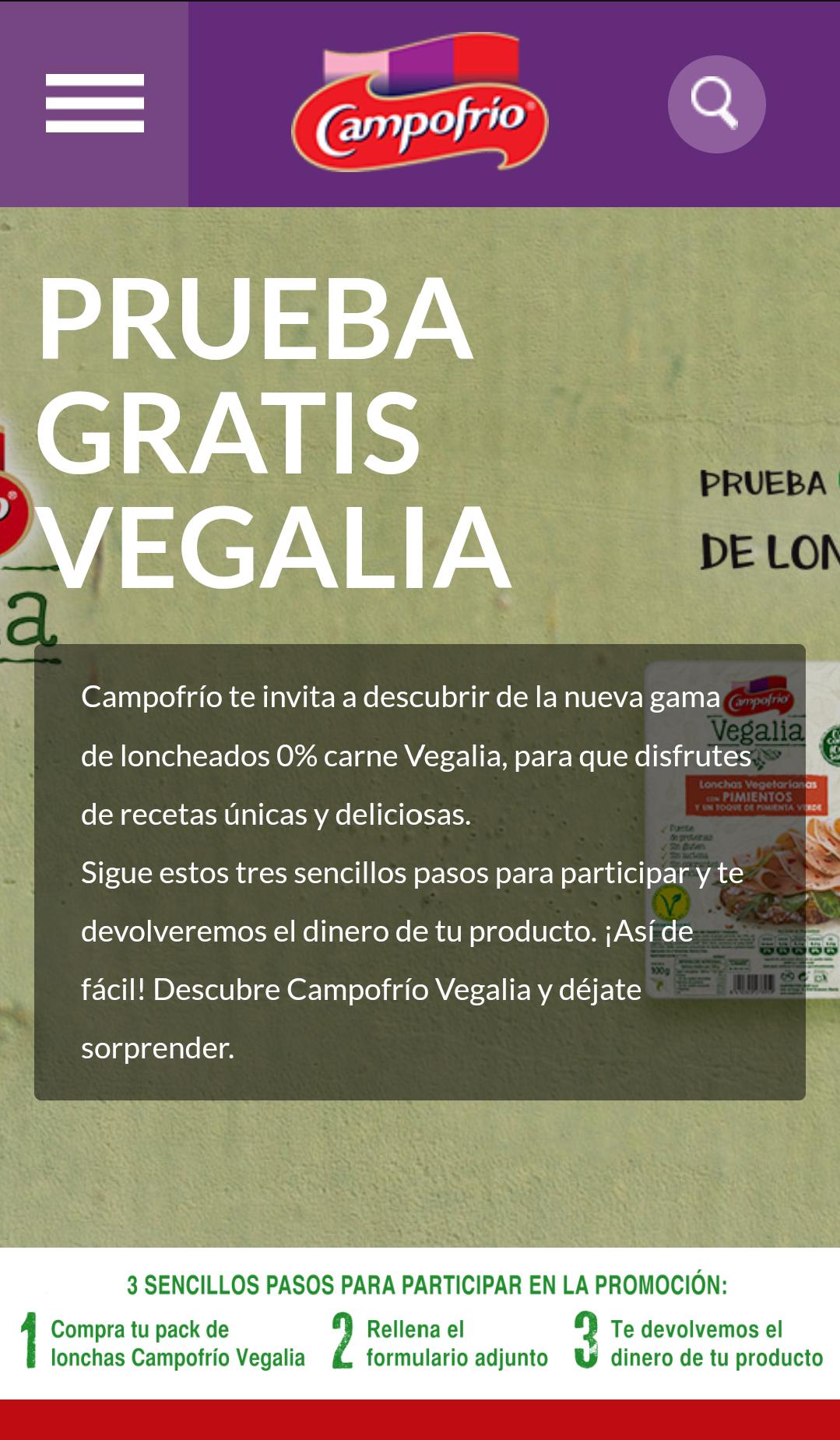 Campofrío Vegalia Gratis