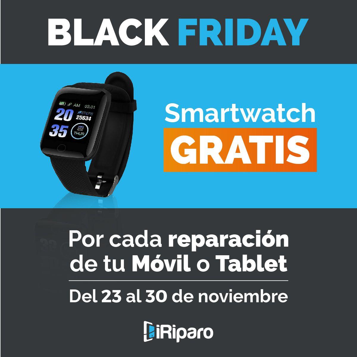 Smartwatch gratis por reparar tu móvil o tablet en iriparo