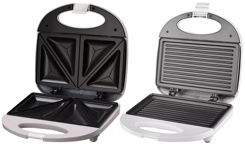 Sandwichera triangular o tipo grill de 750w