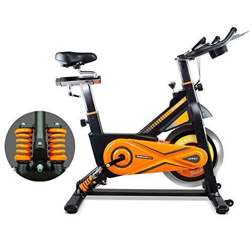 Trainer Alpine 8500. Bicicleta Spinning Pro Indoor. Volante de Inercia 25 kg, Nivel Avanzado, Sistema de Absorción de Impactos, Pantalla LCD
