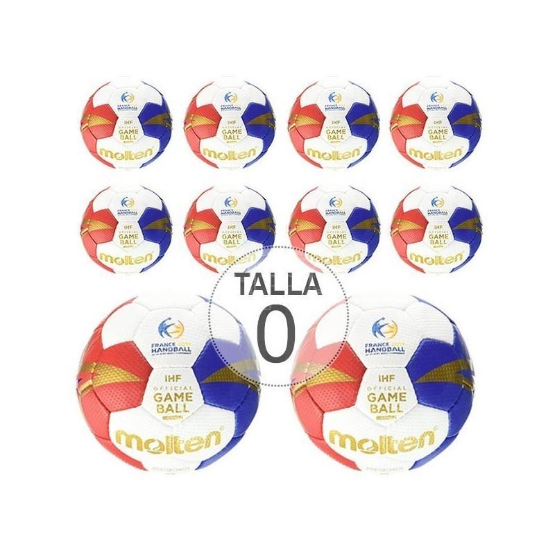 PACK 10 BALONES MOLTEN 3200 M7F TALLA 0 - BALONMANO