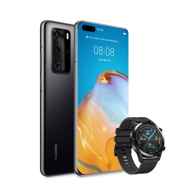 Huawei P40 PRO 5G (8GB RAM - 256 GB ROM) Color Negro + Huawei Watch GT2 Mate Black