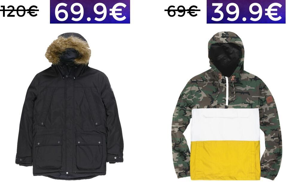 Preciazos en chaquetas Element para hombre