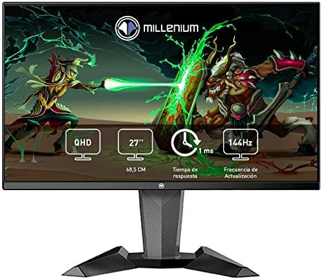"""Millenium MD27PRO - Monitor Gaming para e-Sport de 27"""" QHD 144hz con 1ms (2560 x 1440"""
