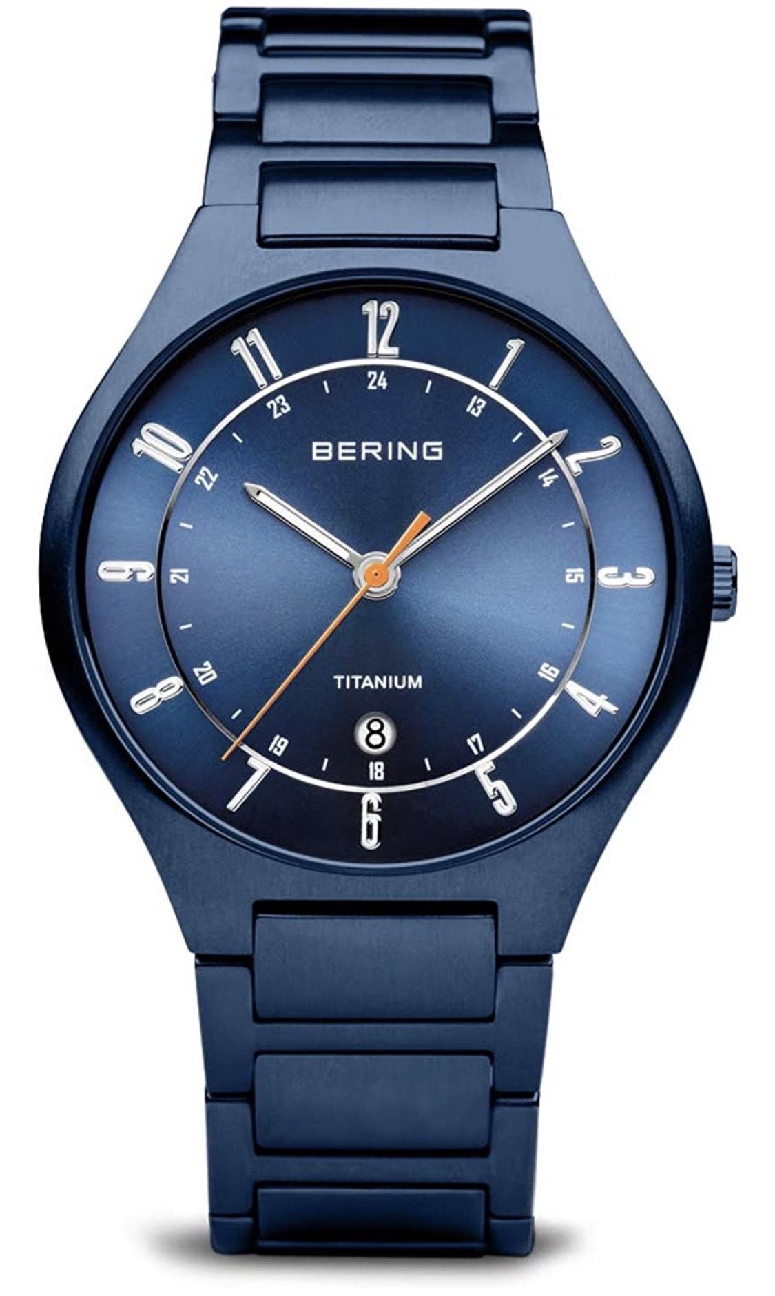 Reloj Bering titanio y solar en mínimo