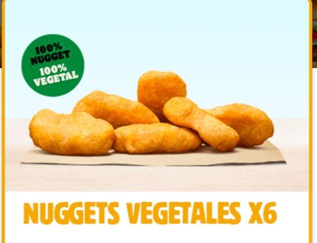 6 Nuggets vegetales a 1.99 en Burger King