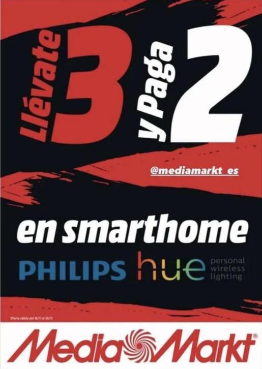Lleva 3 y paga 2 en Smarthome en Mediamarkt