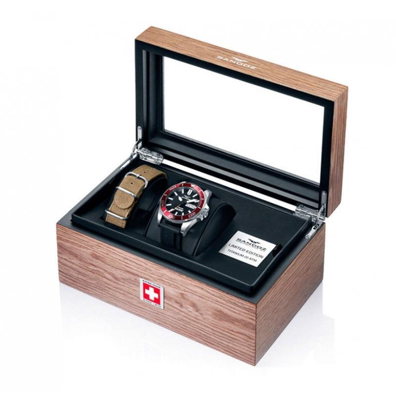 Reloj de hombre Sandoz de tres agujas de silicona Edición Limitada