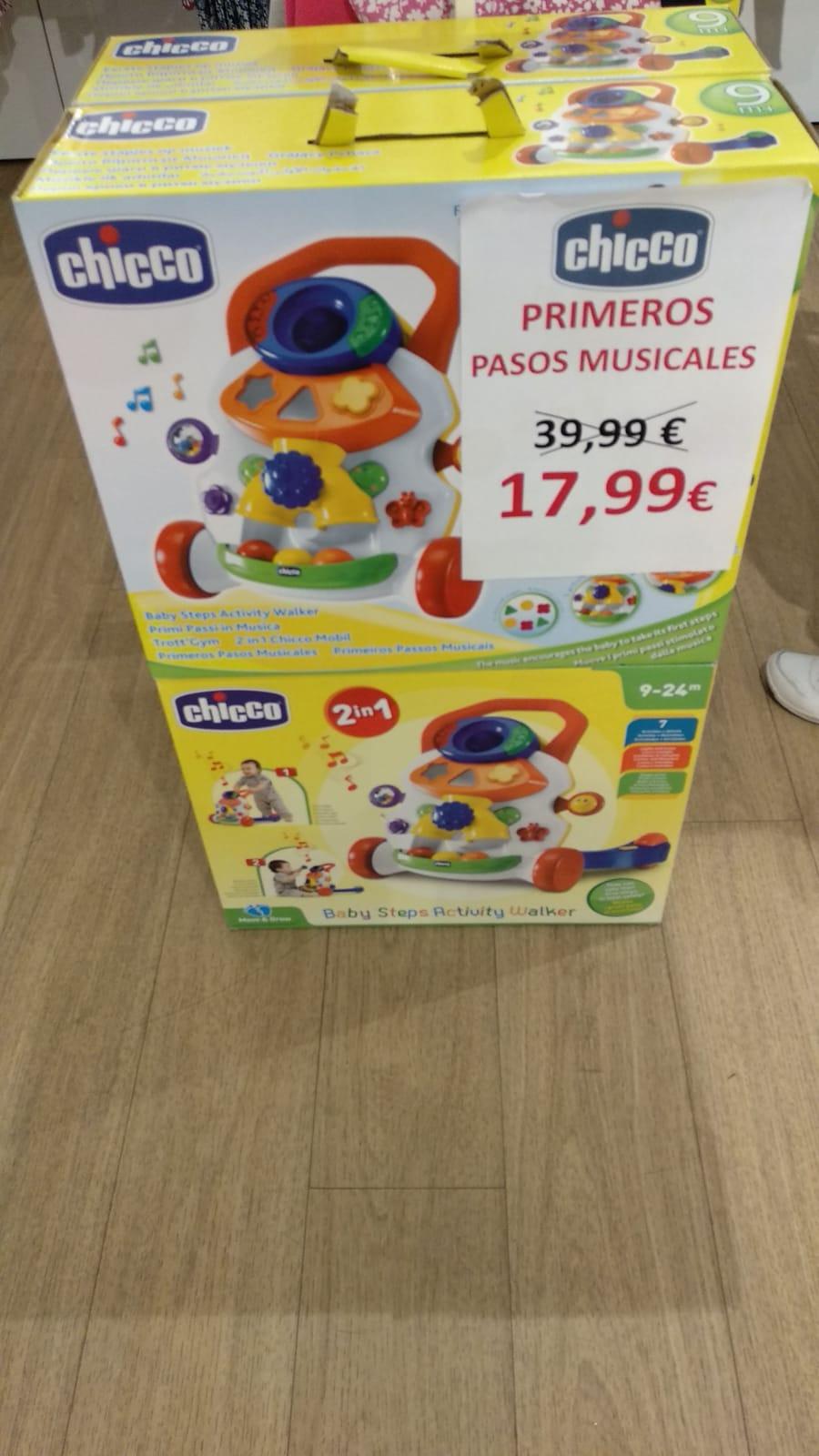 Andadores Chicco en la tienda Outlet del Sambil Madrid