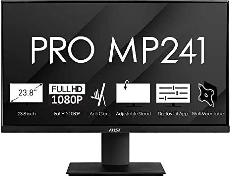 Monitor 23.8´´ MSI Pro MP241 IPS, 1920 X 1080, 16:9 ,VGA ,HDMI, Negro