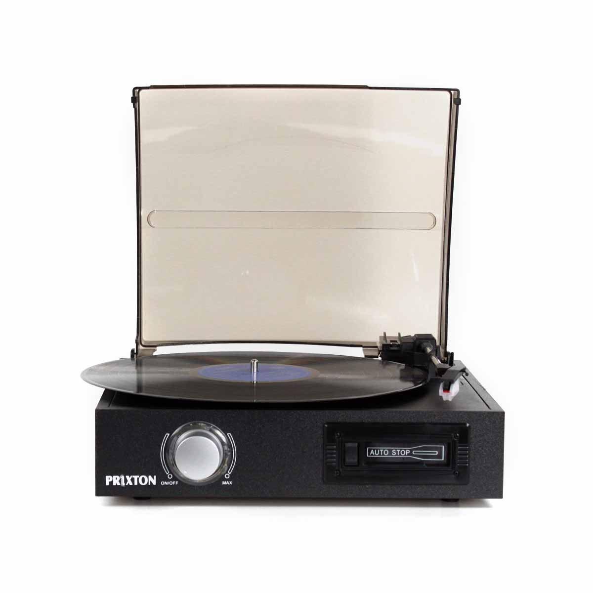 Prinxton Tocadiscos 3 vel. + Lector Cassete + Convertidor MP3