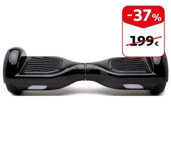"""Hoverboard negro con ruedas de 6,5"""", motor 2*250W y asa de transporte"""