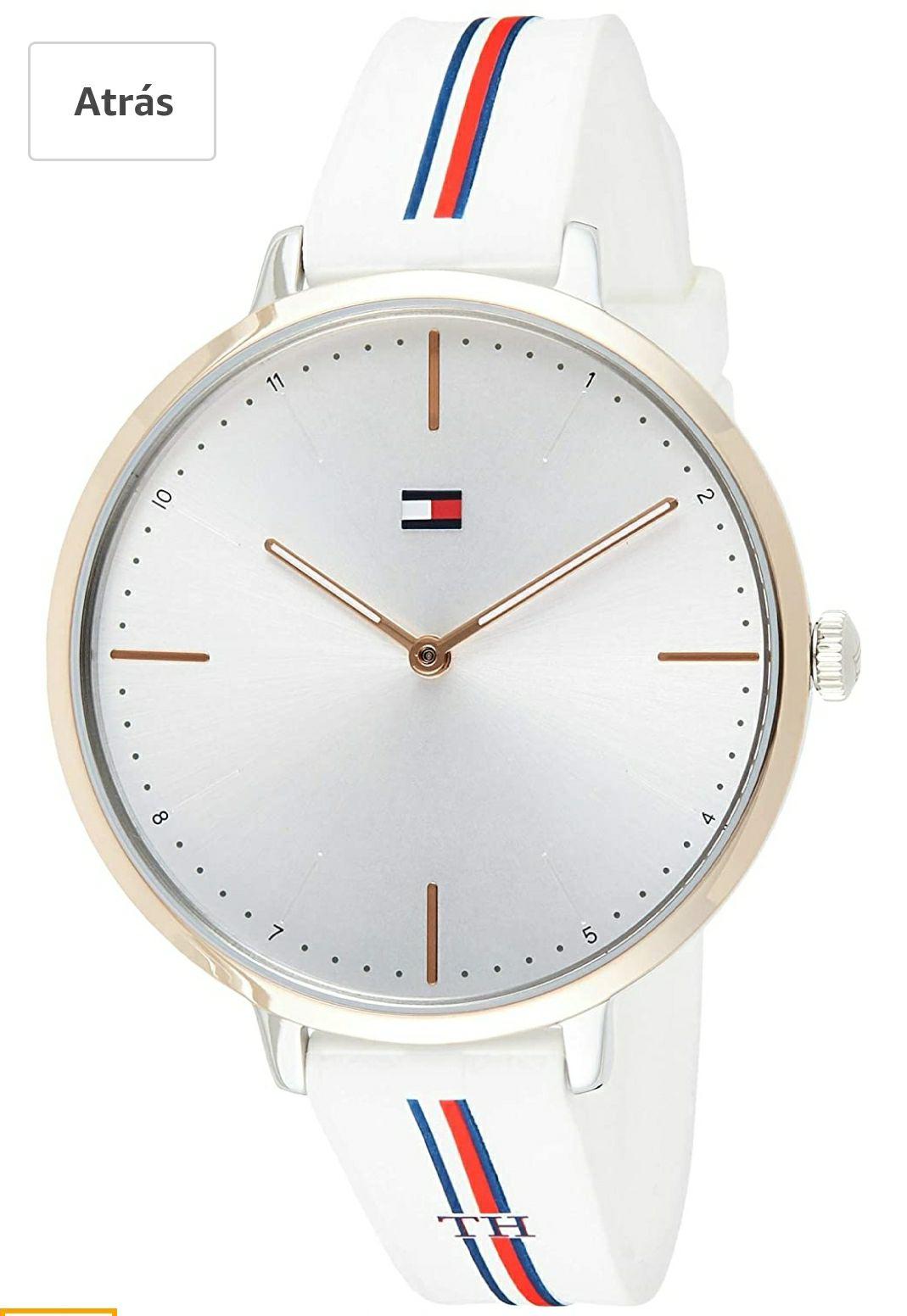 Tommy Hilfiger Reloj Analógico para Mujer de Cuarzo con Correa en Silicona 1782156