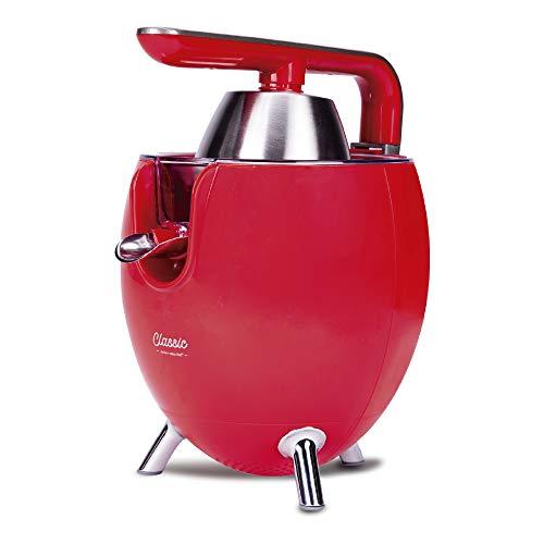 NEW CHEF - Exprimidor Zumo Eléctrico Juicer Classic Rojo para Naranjas y Cítricos,