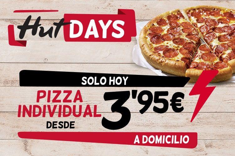 Pizza pequeña 3,95€ a domicilio solo hoy
