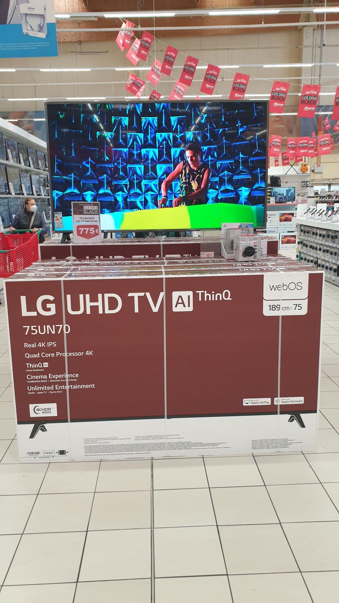 "Televisor LG 75"" 775€"