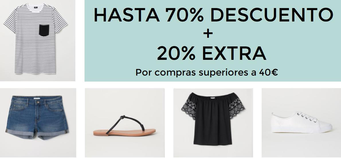 Hasta el 70% de descuento + 20% EXTRA en H&M
