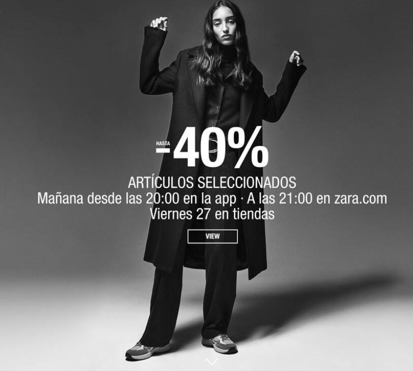 Black Friday en Zara: hasta -40% dto