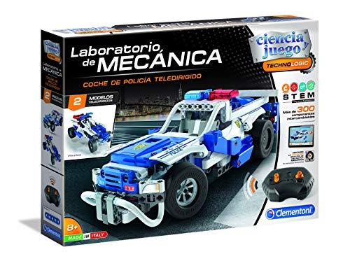 Clementoni - Ciencia y Juego Laboratorio de Mecánica - Coche de Policía Teledirigido
