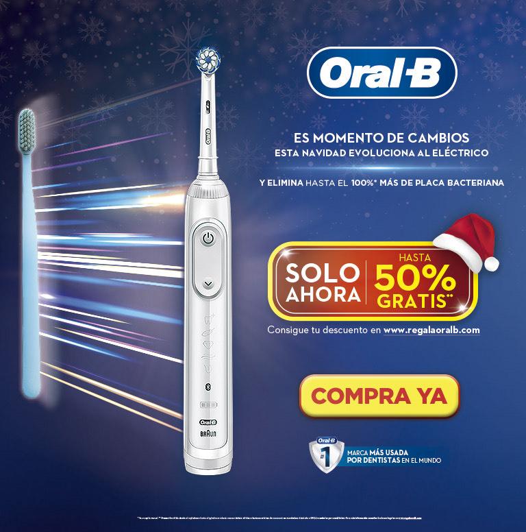 Compra tu Cepillo Eléctrico Oral B y consigue hasta un 50% de reembolso
