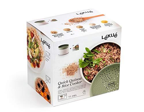 Lékué Recipiente para cocinar Quinoa, Arroces y Cereales, 1 Litro - Mínimo