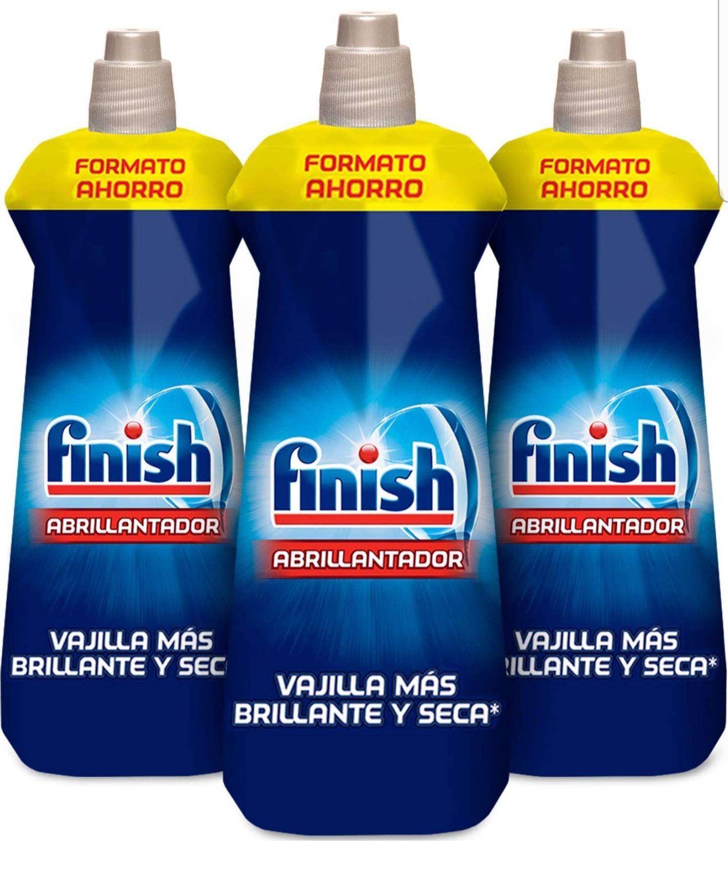 Finish Triple Abrillantador Lavavajillas - Pack de 3 unidades x 800 ml