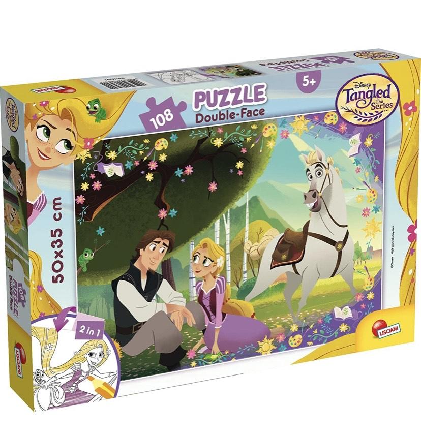 Puzzle doble cara 50 x 35 cm de 108 piezas Rapunzel