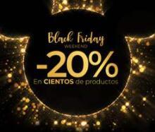 BLACK FRIDAY DISNEY STORE 20% DTO ampliado hasta un 30%DTO en productos seleccionados