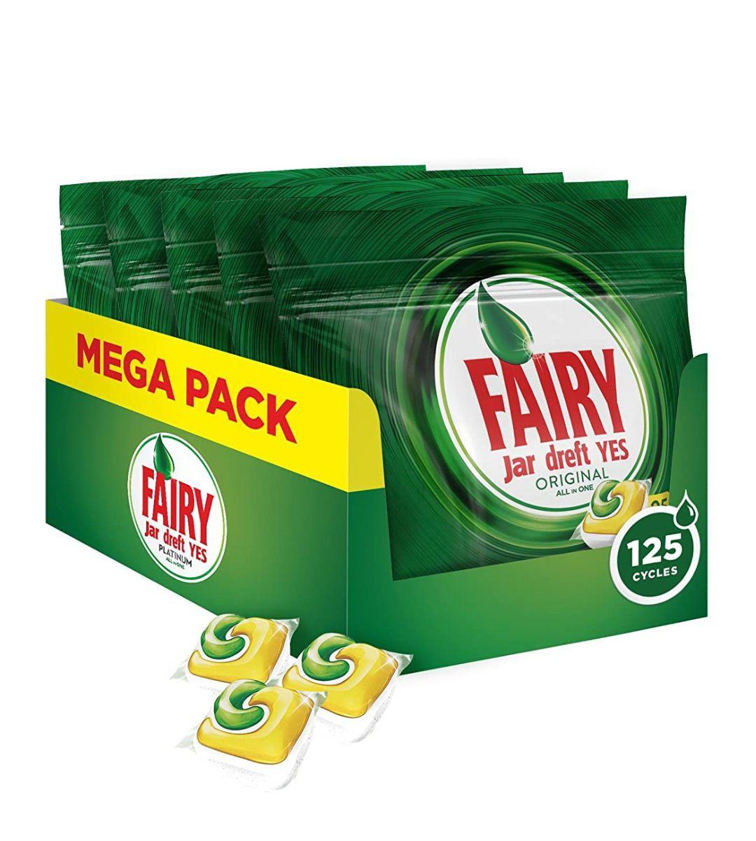 Fairy cápsulas lavavajillas Limón 125 unidades