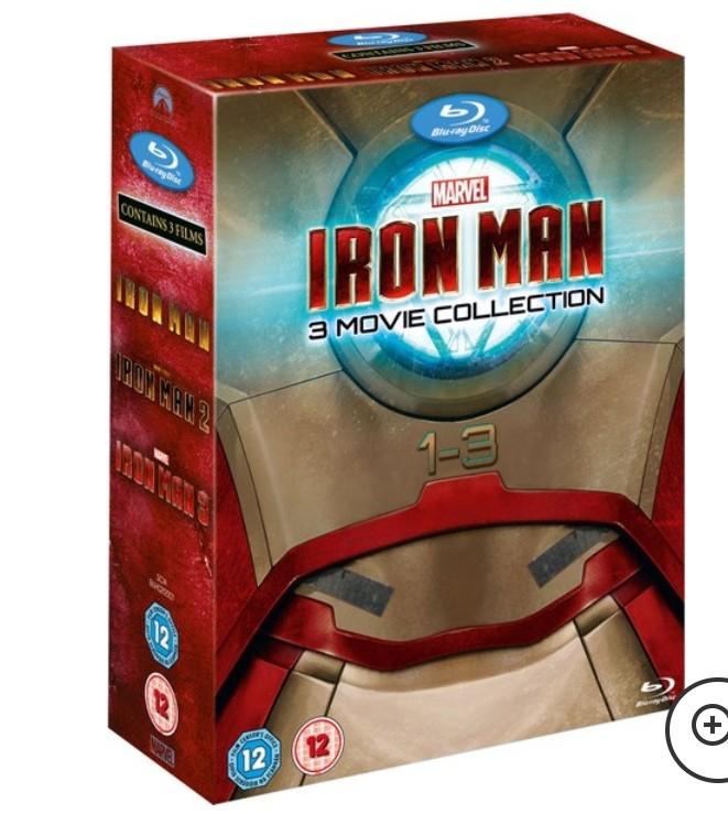 Colección Iron Man 1-3 Blu-ray