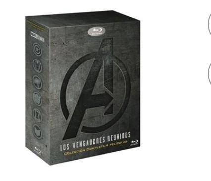 Pack Tetralogía Los Vengadores - Blu-Ray, Los Vengadores - La Era de Ultrón - Infinity War - Endgame
