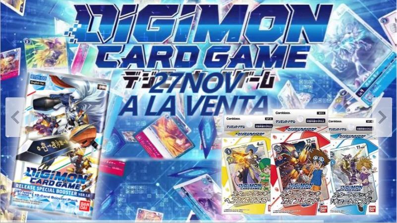 Juego de cartas de Digimon, oferta de lanzamiento.
