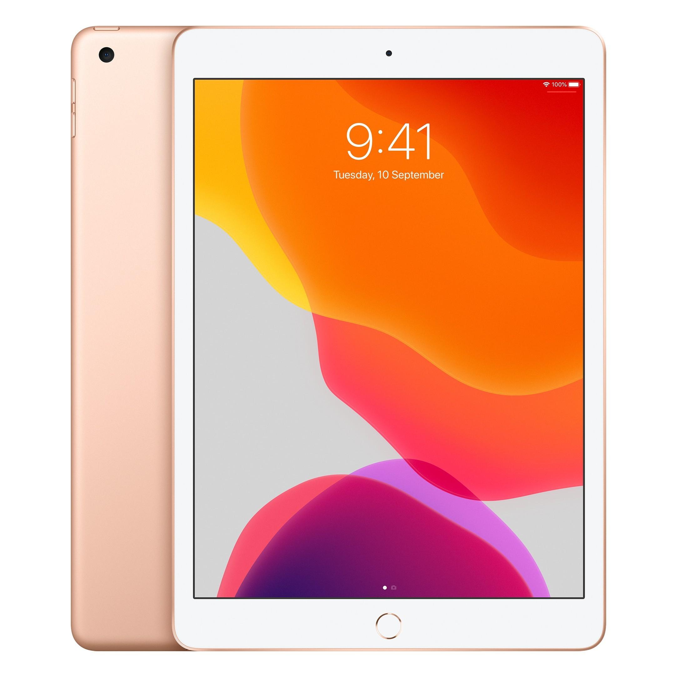 Apple iPad 10.2 (2020) 32GB Wifi color Oro + Funda + Protector de vidrio templado