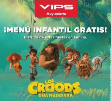 Club Vips te regala un menu infantil para degustar en Vips y Vips Smart ( Solo Cuentas Seleccionadas )