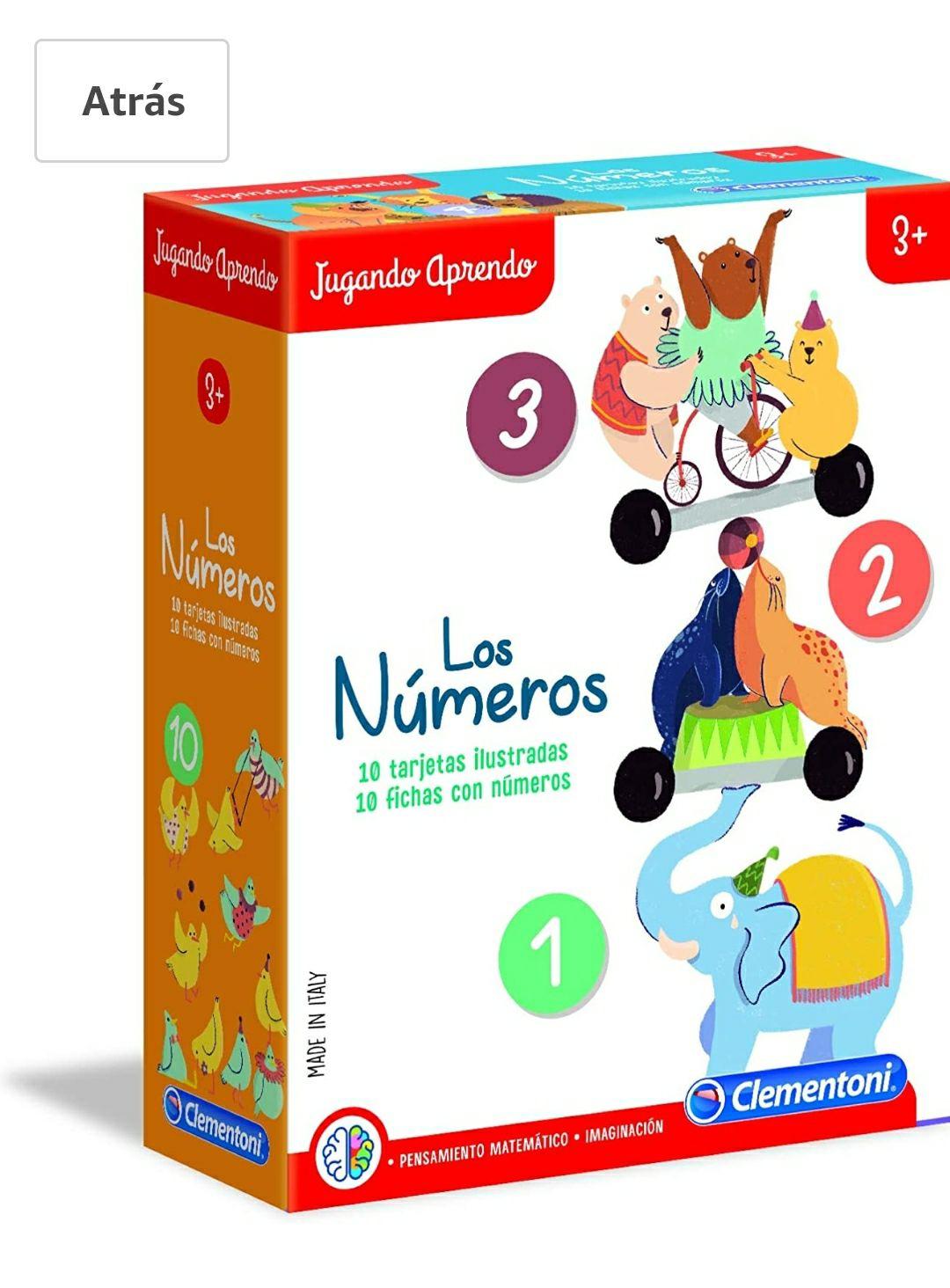 Clementoni-Los Números Juego, Multicolor (55303)
