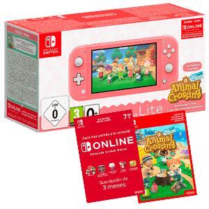 Nintendo Switch Lite + Animal Crossing + 3 meses suscripción Online + 10€ en game points