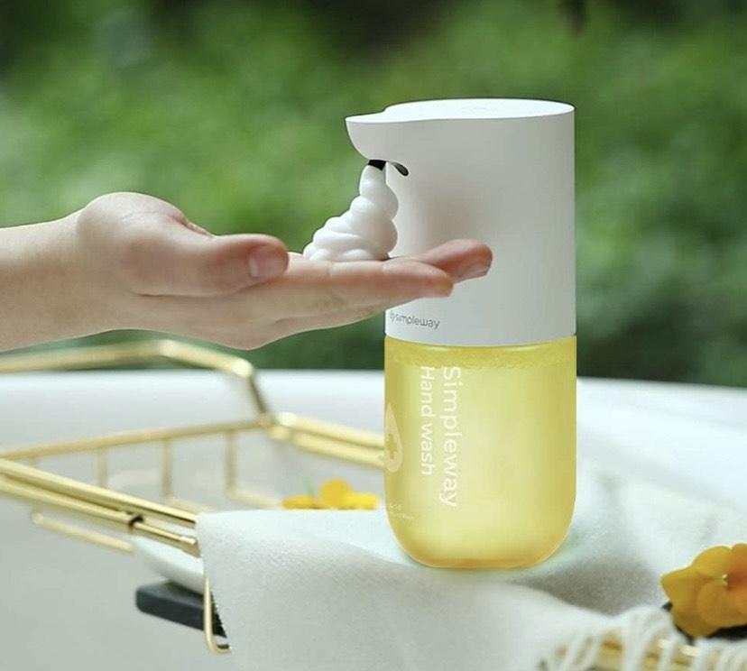 Dispensador de jabón automático (300 ml, sensor de infrarrojos, espuma no Touch)