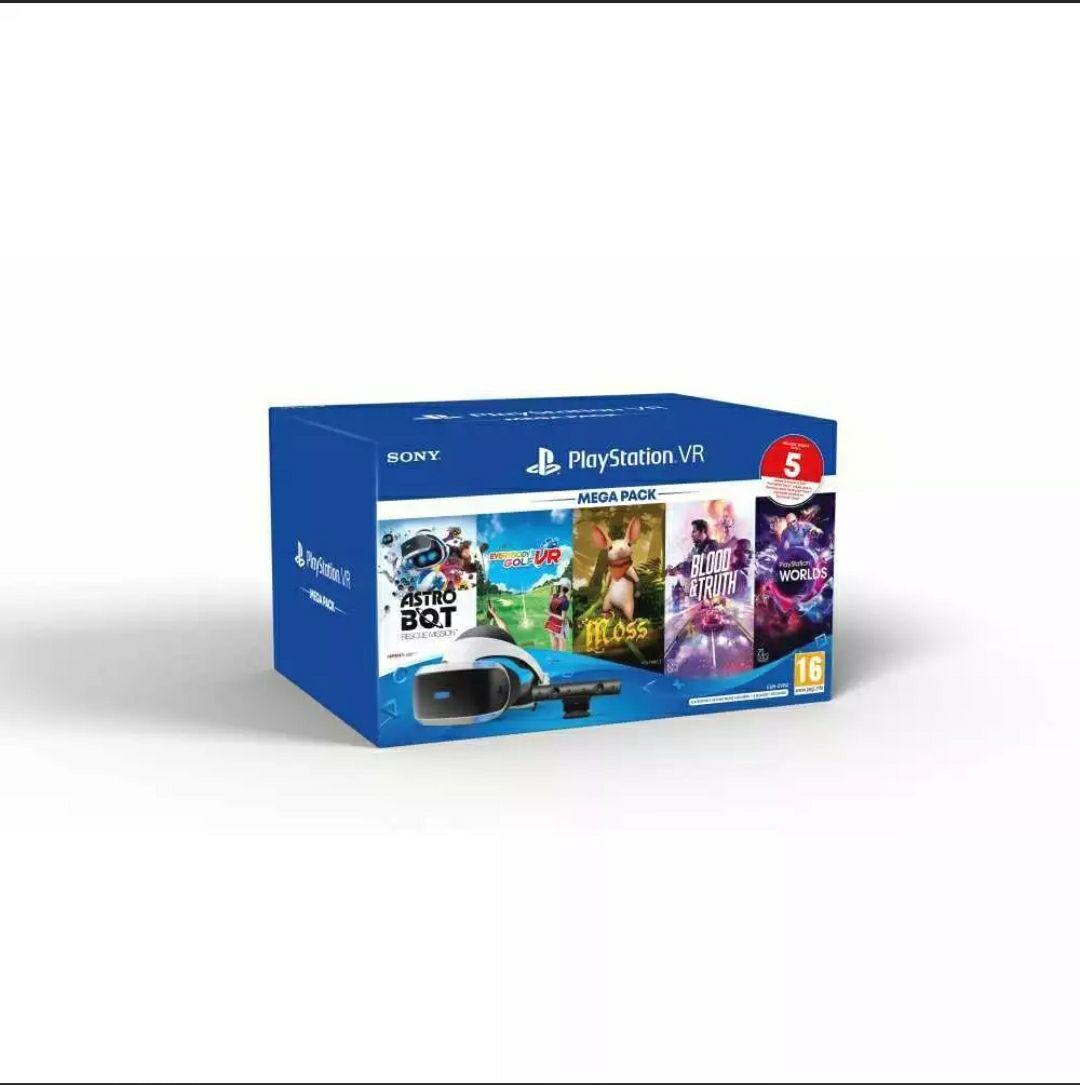 Gafas PlayStation 4 +Cámara y 5 juegos Megapack