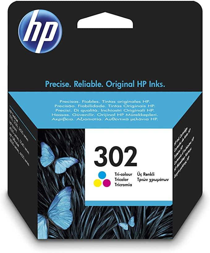 HP 302 F6U65AE, Cartucho de Tinta Original Tricolor (Ahorra 3,65 € al tramitar pedido)