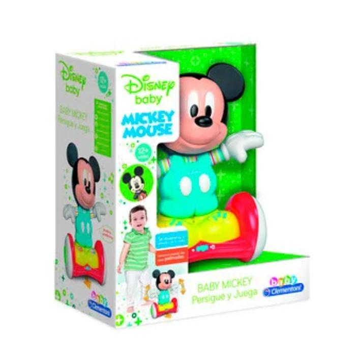 Mickey Mouse con Hoverboard Persigue y Juega, Clementoni Baby DISNEY (NACIONAL)