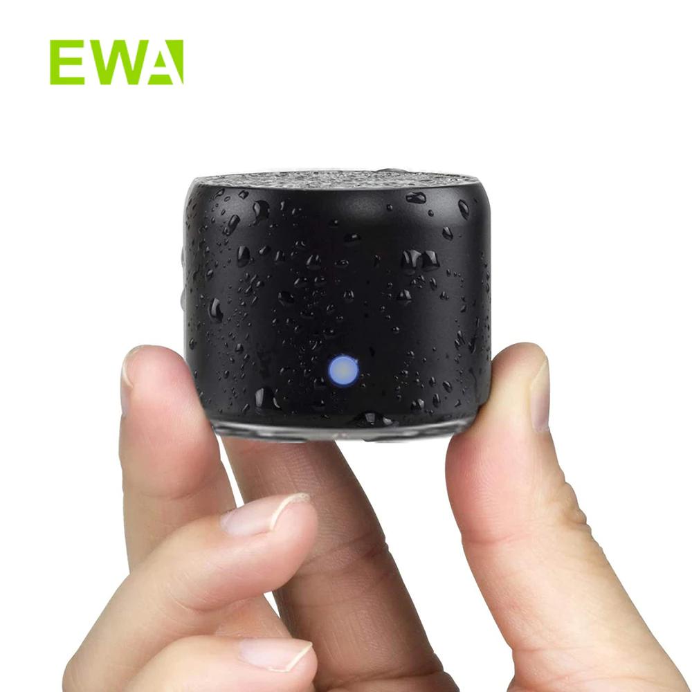 EWA Mini Altavoz portátil Bluetooth Ducha Inalámbrico Extra Bass, Impermeable IP67, con 12 Horas de Reproducción con Estuche de Transporte.