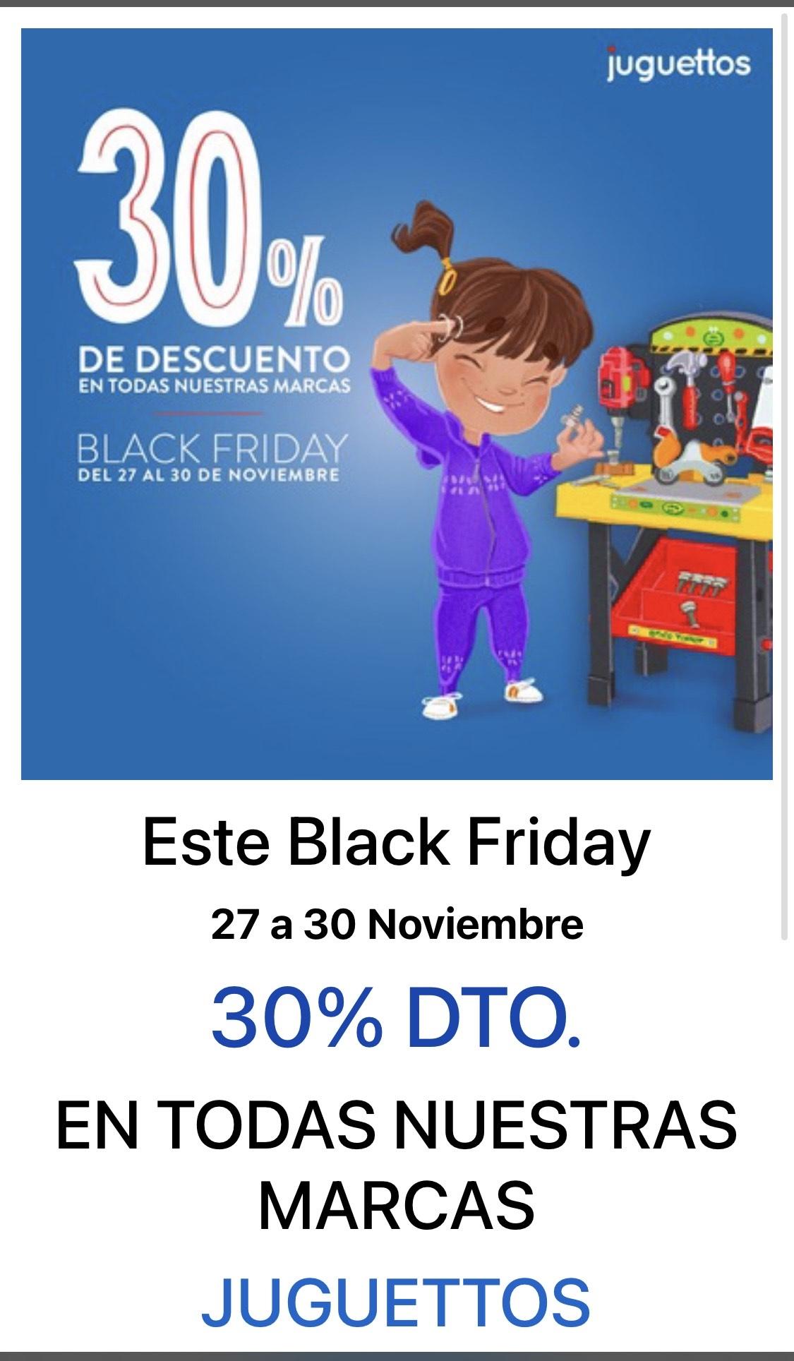30% DTO. EN TODAS NUESTRAS MARCAS JUGUETTOS