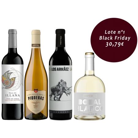 Lote 4 vinos Black Friday