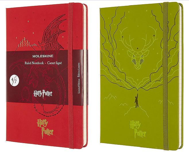 Cuaderno Moleskine Edición Limitada Harry Potter: Tema Dragón o Espectro Patronum - Tapa dura - 240 páginas