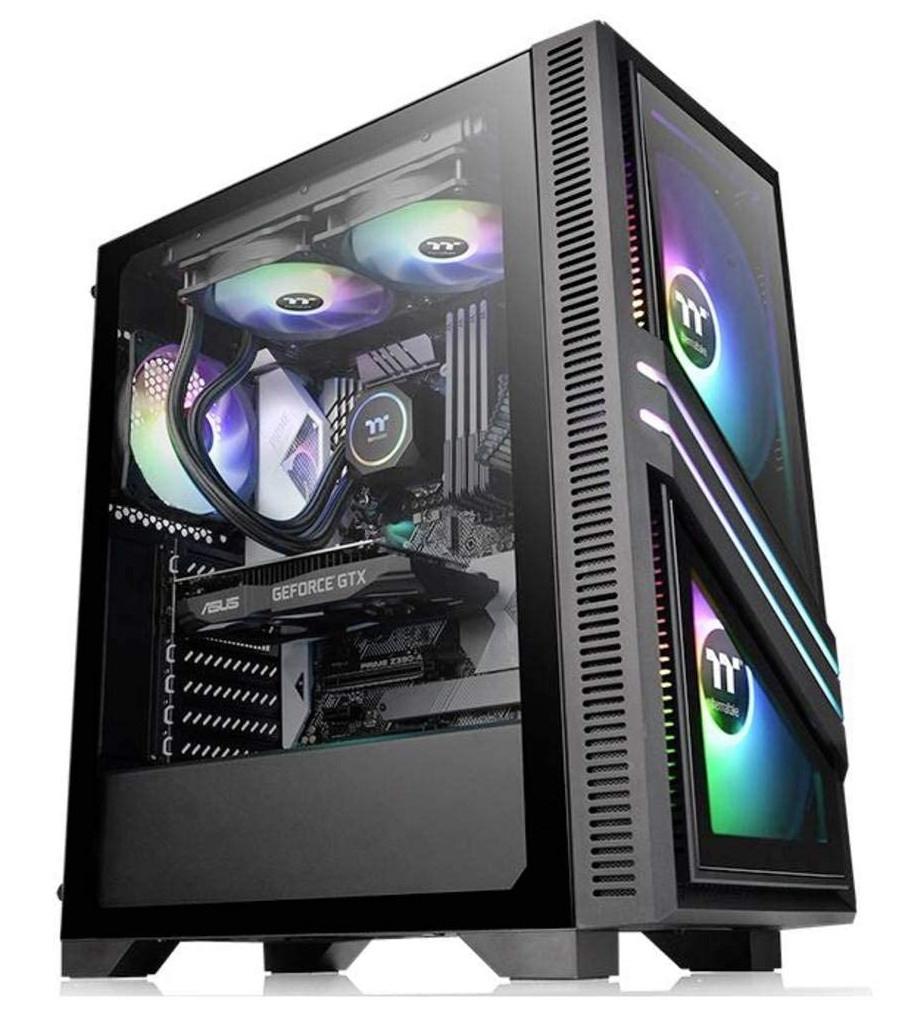 Caja PC Thermaltake Versa T35 TG RGB Cristal Templado USB 3.1 Negra