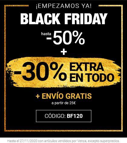BLACK FRIDAY en VENCA (50+30%) y Envío GRATIS