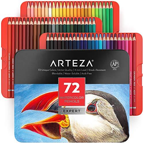 Pack de 72 lápices Arteza acuarelables profesionales [estuche de lápices de colores] - Mínimo histórico