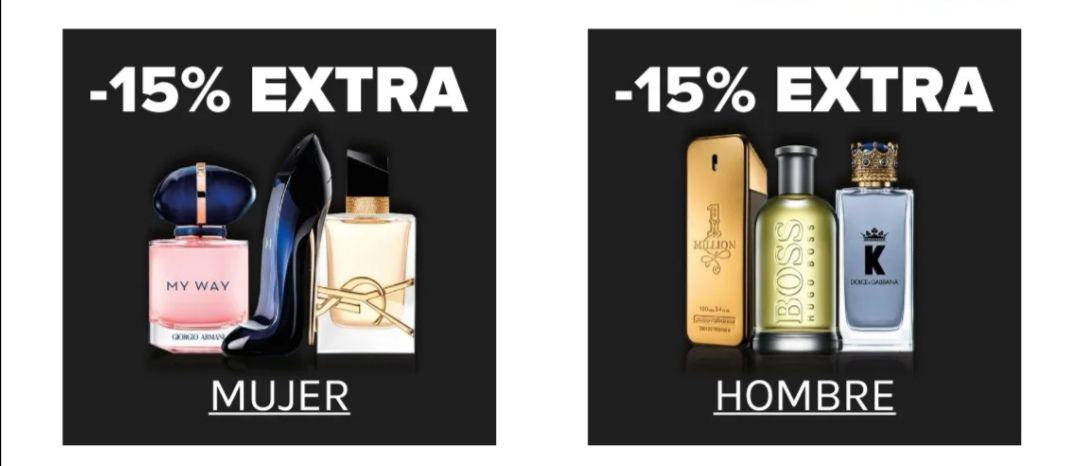 15% de descuento en perfumes